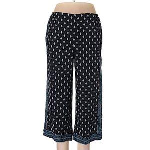 J. Jill Casual Boho Print Ankle Cropped Pants M